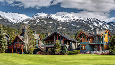 Art Print featuring the photograph Whistler Luxury Homes On Nicklaus North  by Pierre Leclerc Photography