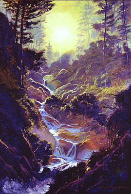Painting - Whistler Mountain Creek by David Lloyd Glover