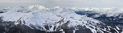 Blackcomb Photograph - Whistler Mountain Panorama by Pierre Leclerc Photography