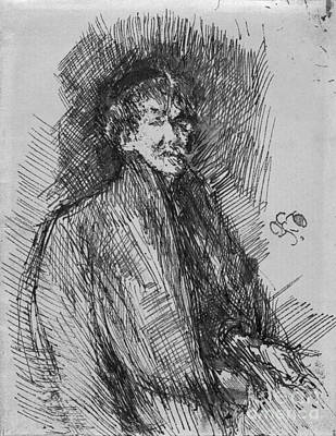 Drawing - Whistler, Self-portrait.  by Granger
