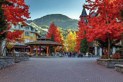 Photograph - Whistler Village Stroll In Autumn  by Pierre Leclerc Photography
