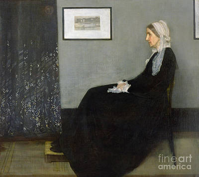Black Woman Painting - Whistlers Mother by James Abbott McNeill Whistler