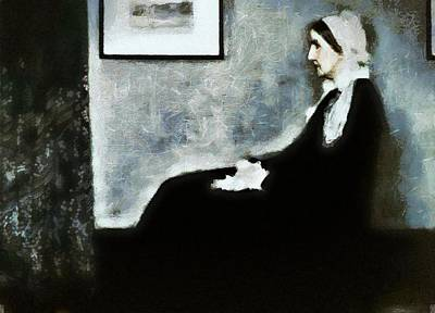 Digital Painting - Whistlers Mother by Mario Carini