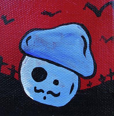 Spray Paint Mixed Media - Whistlin Zombie Mushroom by Jera Sky