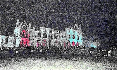 Dracula Digital Art - Whitby Abbey By Night by Nicola Graham