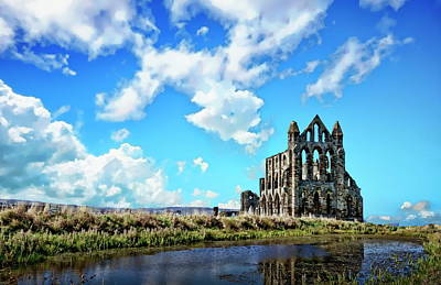 Photograph - Whitby Abbey Ruin by Anthony Dezenzio