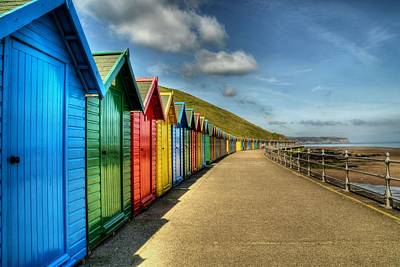 Whitby Beach Huts Art Print