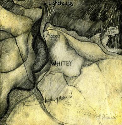 Whitby Geology Map  Art Print by Elizabetha Fox