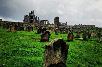 Photograph - Whitby Graveyard by Sarah Couzens