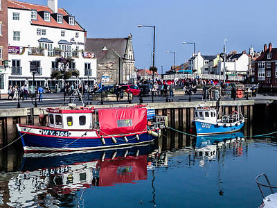 Photograph - Whitby Harbor, United Kingdom by Chris Coffee