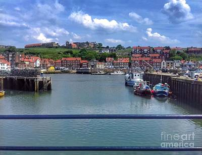 Photograph - Whitby Harbour 2  by Joan-Violet Stretch