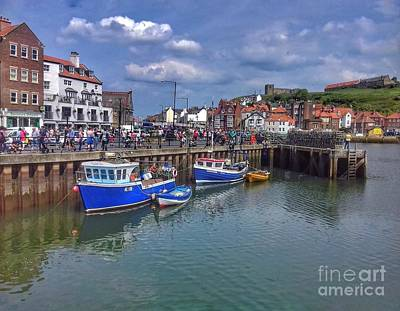 Photograph - Whitby Harbour by Joan-Violet Stretch