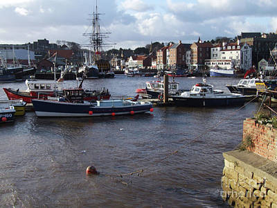 Photograph - Whitby Harbour - North Yorkshire by Phil Banks