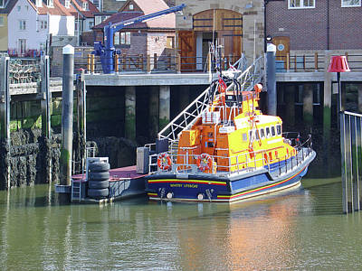 Whitby Lifeboat Art Print by Rod Johnson