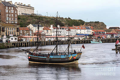 Photograph - Whitby Pirate Boat by David  Hollingworth