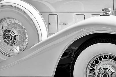 Photograph - White '33 Packard by Dennis Hedberg