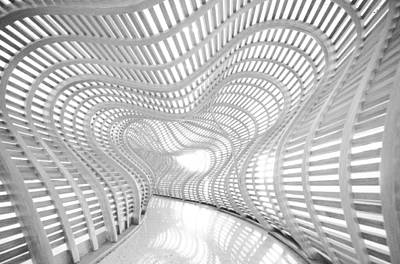 Photograph - White Abstract Hall by Anthony Doudt
