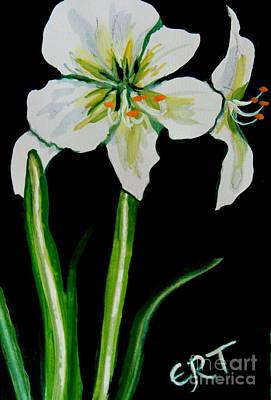 Painting - White Amaryllis by Elizabeth Robinette Tyndall