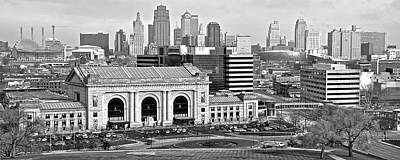 Photograph - White And Black Kc Pano by Frozen in Time Fine Art Photography