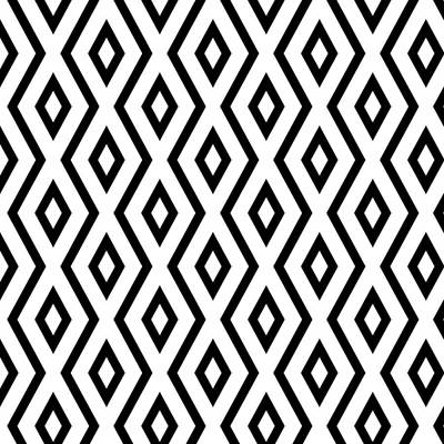 Black Diamonds Mixed Media - White And Black Pattern by Christina Rollo