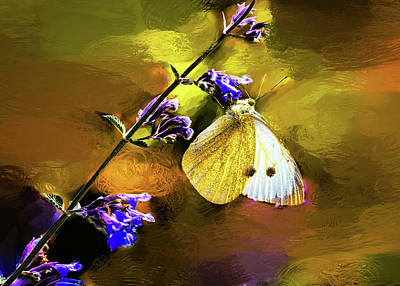 Mixed Media - White And Yellow Butterfly #h2 by Leif Sohlman