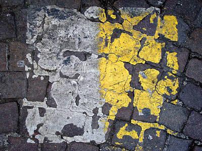 Editoria Photograph - White And Yellow Stripes by Ciro Pignalosa