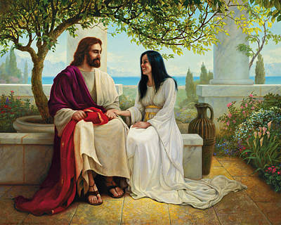 Smiling Jesus Painting - White As Snow by Greg Olsen