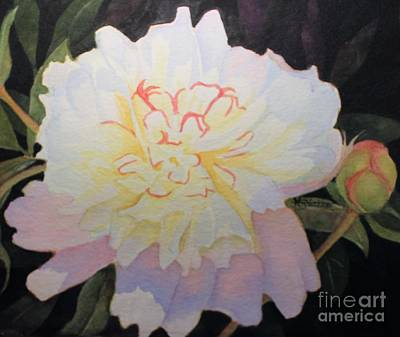 Painting - White At Night by Kathy Staicer