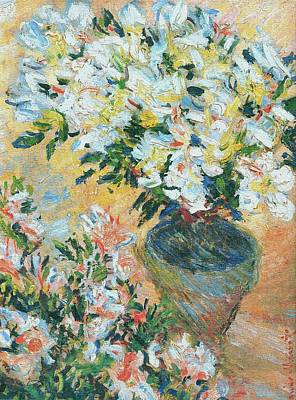 Painting - White Azaleas In A Pot by Claude Monet