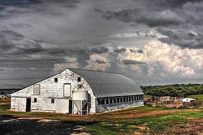Photograph - White Barn by David Matthews