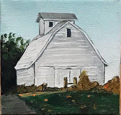 Painting - White Barn by Kevin Callahan