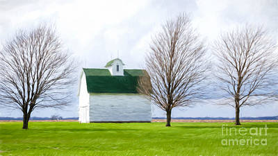 Photograph - White Barn by Lori Dobbs