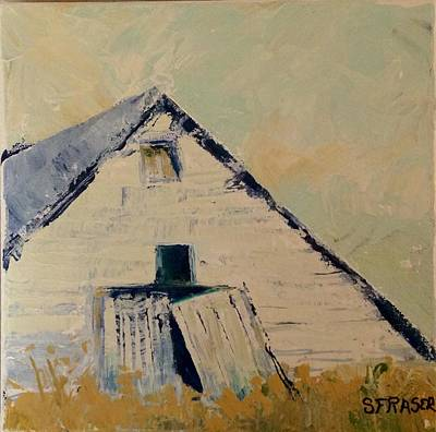 Painting - White Barn by Sally Fraser