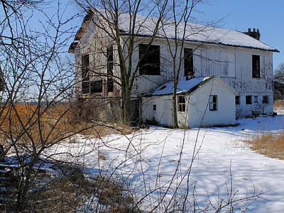 Art Print featuring the photograph White Barn by Scott Kingery