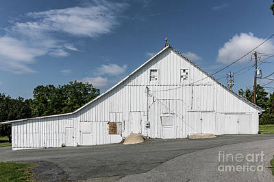 Photograph - White Barn by Thomas Marchessault