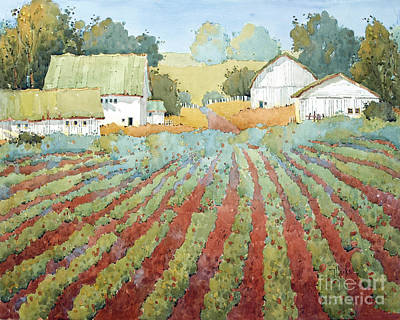 Painting - White Barnes In Virginia by Joyce Hicks