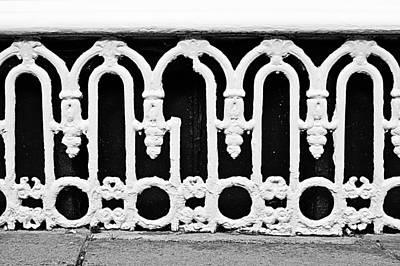Cellar Photograph - White Bars by Tom Gowanlock
