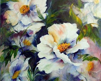 White Beauties Art Print by Elaine Bailey