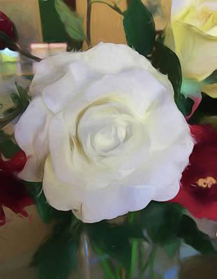 White Beauty Rose Art Print