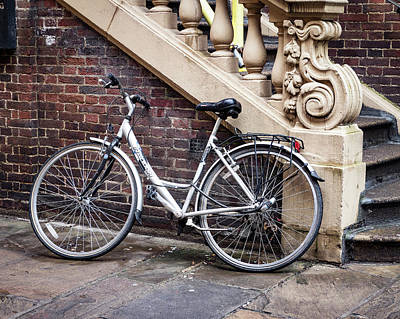 Photograph - White Bicycle by Jean Noren