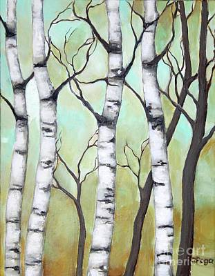 Painting - White Birch by Inese Poga