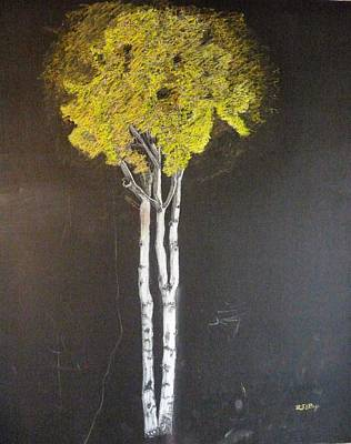 Painting - White Birch by Richard Le Page
