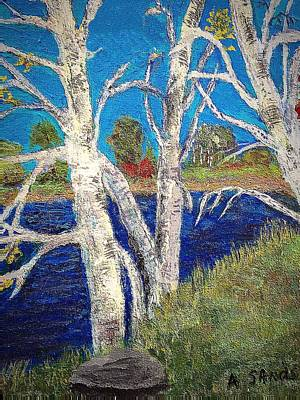 Painting - White Birch Trees by Anne Sands