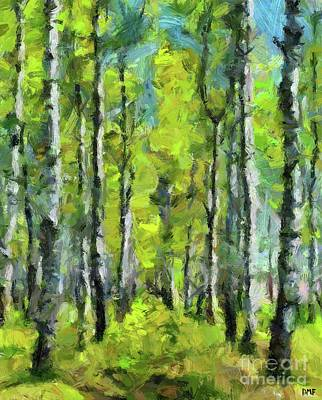 Painting - White Birches by Dragica Micki Fortuna