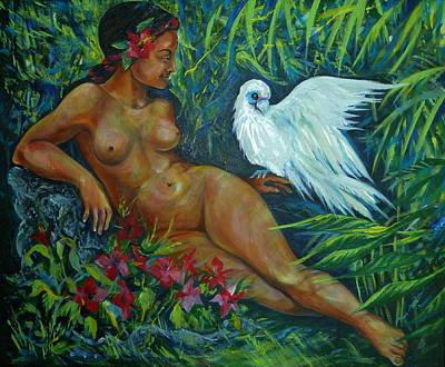 White Bird Art Print by Anna  Duyunova