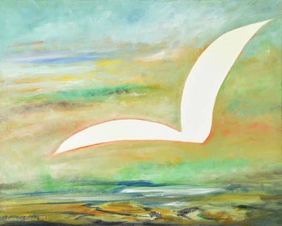 Painting - White Bird  by Gina De Gorna