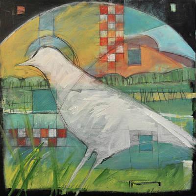 Owls - White Bird In Marsh by Tim Nyberg