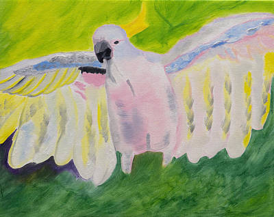Pastel Feathered Cockatoo Original by Meryl Goudey