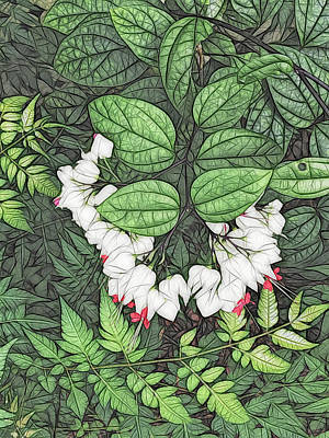 Photograph - White Bleeding Hearts Vertical Artistic by Aimee L Maher ALM GALLERY
