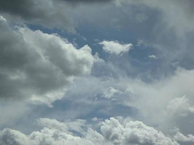 Photograph - White Blue Grey Five by Gabriele Golissa